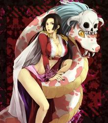 Toon sex pic ##00013062111 boa hancock breasts cleavage highres jpeg artifacts large breasts midriff one piece resize resized salome salome (one piece) skull snake
