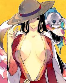 Toon sex pic ##00013062081 boa hancock breasts cape cleavage compression artifacts hat highres one piece resized salome (one piece) straw hat