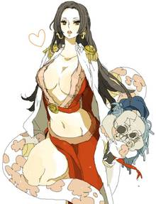 Toon sex pic ##00013061791 boa hancock breasts cape cleavage epaulettes highres long hair marubotan one piece salome (one piece) skull snake
