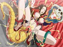 Toon sex pic ##00013059701 zoofilia boa hancock breasts double vaginal long hair nipples one piece one piece snake peeing salome salome (one piece) snake zooerastia zoofilia
