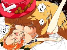 Toon sex pic ##00013032840 zoofilia blush breast press breasts breath f (pixiv) f (pixiv6215) fuji (artist) fur hat large breasts nami one piece orange hair sex tattoo tony tony chopper zoofilia