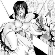 Toon sex pic ##000130133123 amputation arm bleeding blood blood stain bound breasts clothing dismemberment exposed breasts female glasses greyscale guro human injury knife male meat cleaver monochrome mouth nico robin one piece open mouth severed arm straddle violence wound