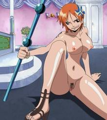 Toon sex pic ##000130184642 female angry breasts clima-tact feet log pose nami navel nipples nude nude filter one piece orange hair photoshop pubic hair pussy red hair sitting solo tattoo uncensored