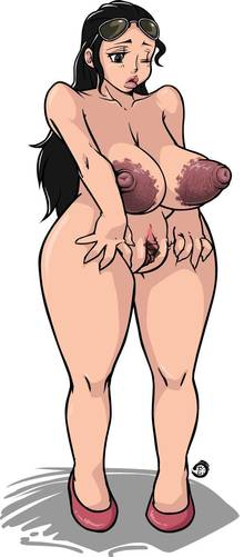 Toon sex pic ##0001301173967 big breasts black hair censored jiejie large breasts nico robin one closed eye one piece shoes simple background spread pussy sunglasses wide hips
