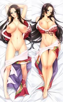 Toon sex pic ##0001301173577 boa hancock breasts dakimakura momoi komomo nipples no bra nopan one piece open shirt pussy uncensored