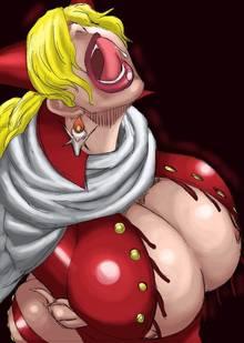 Toon sex pic ##0001301125632 female ahe gao cape cleavage one piece pose sadi-chan tongue tongue out tremble