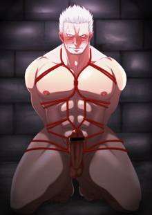 Toon sex pic ##0001301075273 bondage male one piece shibari smoker solo solo male tagme yaoi
