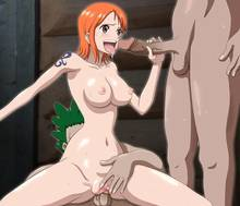 Toon sex pic ##000130971687 female brown eyess circle anco group sex handjob naked nami nude one piece open mouth orange hair sex spread legs straddle sweat tattoo uncensored vaginal penetration
