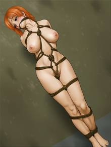 Toon sex pic ##000130989823 bondage gag highres karma-laboratory loot nami nipples nude one piece rope gag ropegag solo