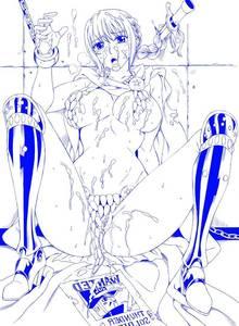 Toon sex pic ##0001301480135 armor bikini blush bondage braid bukkake cape chains cum cum on breasts cum on hair cum on lower body cum on upper body female female leaning back looking at viewer monochrome one piece rebecca (one piece) shackles sitting solo spread legs sweat tears