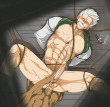 Toon sex pic ##000130686635 abs anal bondage cigar cum cum on self cum while penetrated gay handjob legs held open male male only malesub one piece penis pov rope sex smoker uncensored white hair yaoi