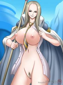 Toon sex pic ##000130498523 blush bottomless breasts coat mokusa nipples no bra no panties nude one piece open shirt pussy shirt smiling standing unnamed giantess (one piece) vice admiral