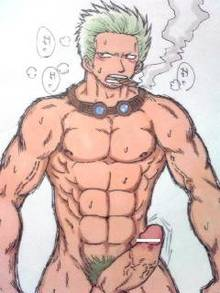 Toon sex pic ##000130471218 male male only one piece penis smoker solo solo male tagme yaoi