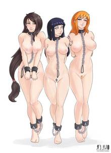 Toon sex pic ##0001301405384 big breasts black hair bound breasts brown hair color crossover female female only final fantasy final fantasy vii front view hair human hyuuga hinata large breasts long hair multiple females nami naruto naruto shippuden nipples nude one piece orange hair owler shackles standing tifa lockhart