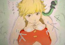 Toon sex pic ##000130459460 blonde hair breasts brown eyess cleavage marguerite one piece outdoor paizuri