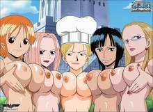 Toon sex pic ##000130457840 5girls breasts female hanashino karui hina hina (one piece) jessica kalifa nami nico robin one piece photoshop