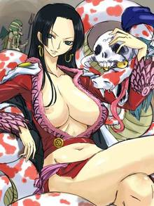 Toon sex pic ##000130391159 boa hancock breasts crossed legs earrings green eyess hannyabal huge breasts jewelry legs crossed long hair michael midriff nipple slip nipples no bra one piece salome (one piece) sitting skirt skull smile snake