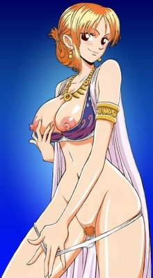 Toon sex pic ##0001301371773 armlet breasts clothes color female female only hair human nami nipples one piece orange hair smile solo standing tagme