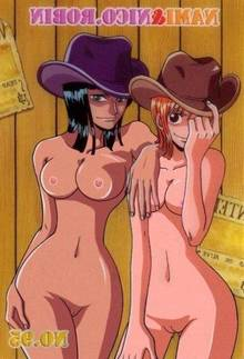 Toon sex pic ##000130330187 black hair breasts color female female only front view hair hat human multiple females nami nico robin nipples nude nude filter one piece orange hair photoshop pussy smile standing uncensored undressing vulva