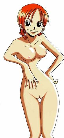 Toon sex pic ##0001301363661 breasts color female female only front view hair human nami nipples nude one piece orange hair round ears solo standing tagme vulva