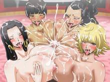 Toon sex pic ##000130326857 4girls blush boa hancock breast grab breasts censored cigarette cum cum explosion dark skin happy sex kikyou (one piece) margaret marguerite mikanberry multiple girls multiple paizuri nipples nude one piece paizuri penis quad paizuri rindou (one piece) sex